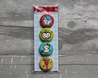 together 4 magnets macaroon food 1.25 inch