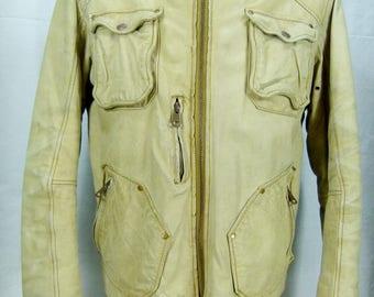 Authentic ENERGY leather Motorcycle jacket