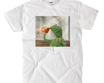 Kermit Sipping Tea - White T-shirt