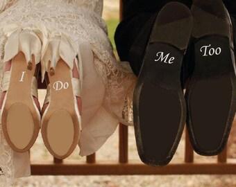 I DO ME TOO Removable Vinyl Wedding Shoes Decals Sticker