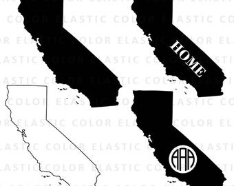 California state svg  files  - California  clipart - California outline digital download vector files svg, png, dxf, eps