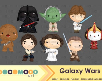 Space Wars Clipart / Digital Clip Art for Commercial and Personal Use / INSTANT DOWNLOAD