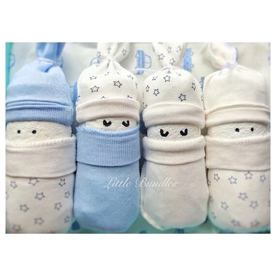 Baby Boy Gift Sets Newborn : Diaper cake baby boy gift box shower set unique