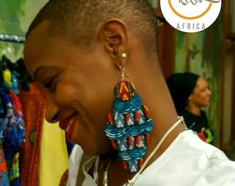 Ankara Chandelier Earrings/Ankara Earrings / African Print Earrings /Handmade Earrings / African earrings/ Large Earrings