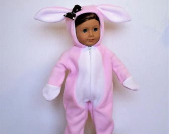 Happy Bunny handmade pajamas or costume to fit an 18 inch doll such as American Girl or others