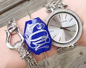 Silver Monogrammed Bauble Bracelet, Handmade, Monogrammed, Christina Vereb