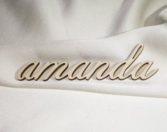 Wedding place cards, Set of wood place cards, Name cards for wedding, Laser cut names, Name place cards, Table Place Card