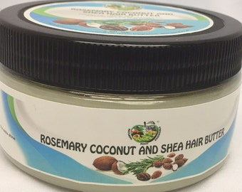 All Natural Rosemary Coconut And Shea Hair Butter