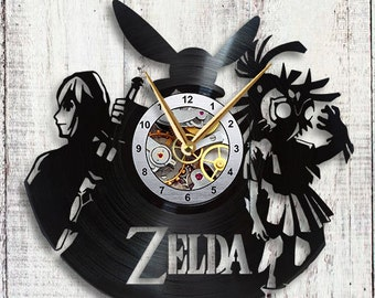 The Legend of Zelda Vinyl LP Record Wall Clock