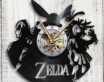 The Legend of Zelda Vinyl LP Record Wall Clock