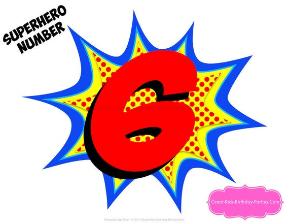 Superheroe decoraciones superh roe numero superh roe for The woman in number 6