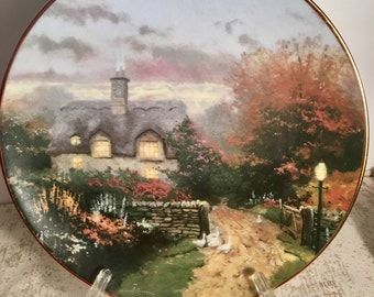 Knowles Thomas Kinkade Garden Cottages Of England Plate Open Gate