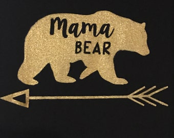 Gold Mama Bear V-Neck
