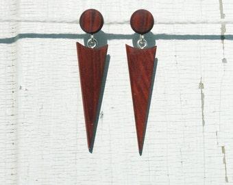Redheart Arrowhead Wood Earrings
