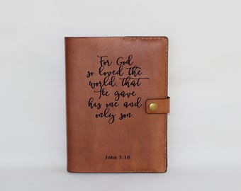 Leather bible cover, bible case, personalized bible cover, bible journaling, bible cover leather, book cover, bible cover pattern