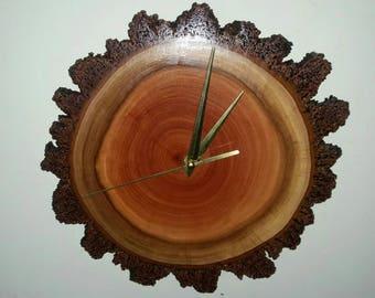 Handmade Live edge wooden clock