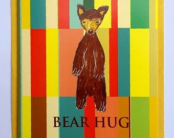 Bear hug card-Oldshcool Teddy-Vintage Designs-Retro style-Teddy card-Grizzle bear card