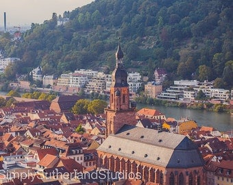Heidelberg Print, Heidelberg, Printable Photograph, Photography Decor, Wall Art, Architecture, Heidelberg architecture, Instant Download