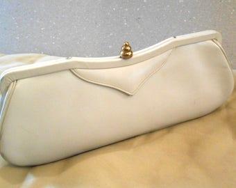 1960's Ivory  Day Clutch