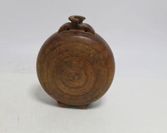 Antique primitive handmade  wooden vessel