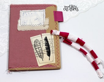 handmade fabric junk journal  - 013