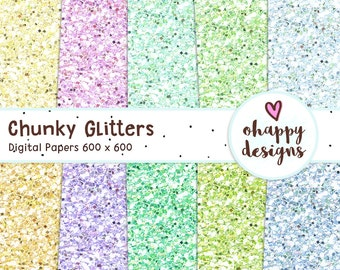 Chunky Glitter Digital Papers