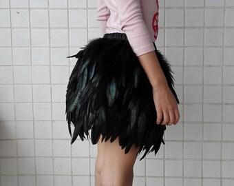 Kids coque feather skirt #GSKT17002