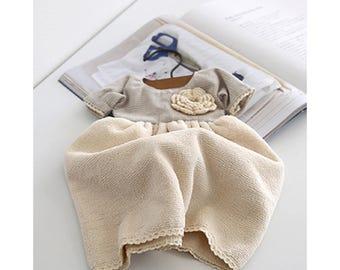 Girliber handmade cute kitchen hangerd hand towels dress pearl fabric