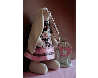 Tilda bunny/hare/rabbit doll with small bird