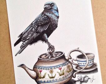 Drawing felt - 4 o'clock: It's tea time!