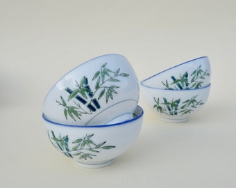 A set of Bamboo serving bowls
