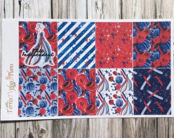 Miss Independent / Fourth of July / Independence Day / Planner Stickers
