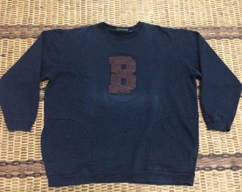 Vintage 90's Blow Back Sport Classic Design Skate Sweat Shirt Sweater Varsity Jacket Size XXL #A604
