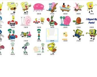 Spongebob Square Pants Embroidery Design
