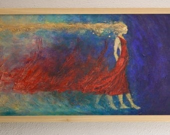 primary colored figurative abstract painting