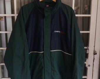Vintage Chaps ralph lauren pullover jacket spellout embroidery/green/XL/hip hop/polo