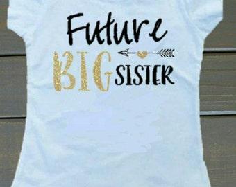 Future big sister / big brother pregnancy announcement t-shirt