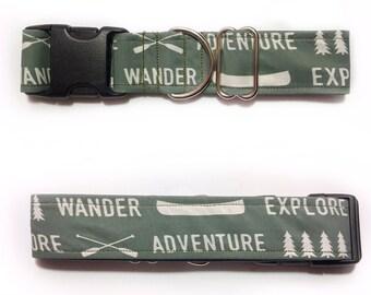 Explore, Adventure, Wander Dog Collar