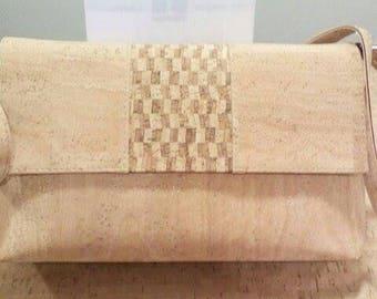 Handmade purse for women,portuguese natural cork.