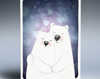 Love bear-Instant download-Valentine's day-Digital file-Poster-Art print-Home decor-Hand drawing-Gift-For him-For her-Love you