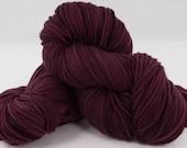 Verglas Sweater, Knitting Kit, Black Cherry