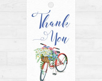 Printable Thank You Gift Tags - Instant Download  - Thank You Flowers - Watercolor Floral Illustration - 10 Gift Tags - DIY - Gift Tag[006]