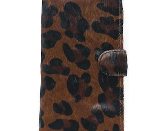 Real Leather leopard print iPhone 7 Case / iPhone 7 Plus iPhone SE iPhone 6 Plus iPhone 6S Plus iPhone 6 iPhone 6S iPhone 5 iPhone 5S LW185