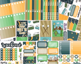 Camping in the Woods- Happy Planner Full Sticker Kit