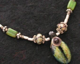 OOAK Green Goddess Necklace