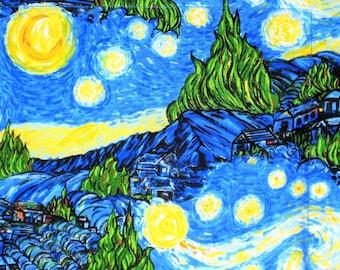 Pillow Sham, Starry Night Pillow Sham, Van Gogh Pillow Sham, Pillow Case, Pillow Cover, Handmade