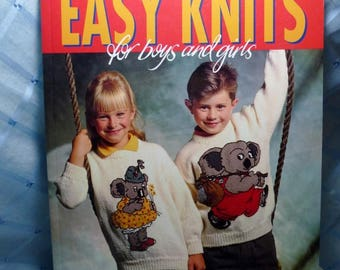 """Vintage """"Easy Knits for Boys & Girls"""" Book"""