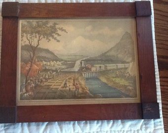 Vintage Framed Print Across the Continent