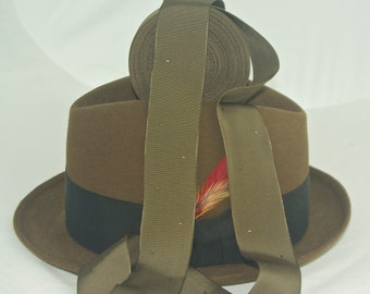 Vintage Hatband Ribbon, New Old Stock With Cool Patten