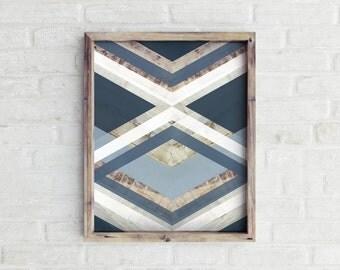 Scandinavian Print, Chevron Print, Arrow Wall Art, Modern Decor, Geometric Print, Minimalist Art, Blue, Chevron Printable, Gallery Wall Art